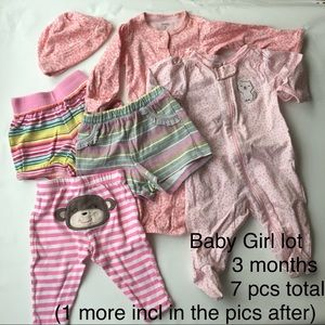 Baby Girl Lot of 7 pcs total Size 3 mo